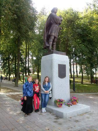 Помнiк князю Iзяславу, устаноўлены ў Заслаўi 6 верасня 2014г.